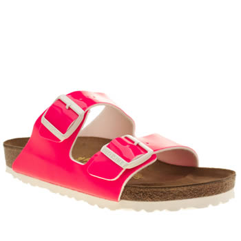 Birkenstock Pink Arizona Patent Womens Sandals