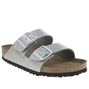Birkenstock Silver Arizona Magic Galaxy Sandals
