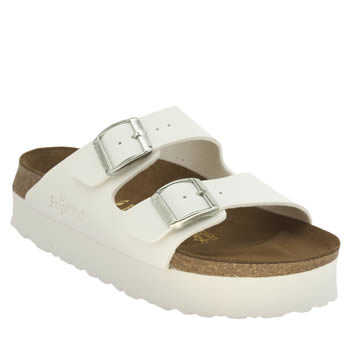 Birkenstock White Arizona Chunky Sandals