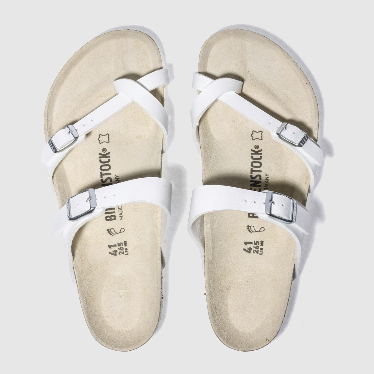 Click to view product details and reviews for Birkenstock White Mayari Sandals.
