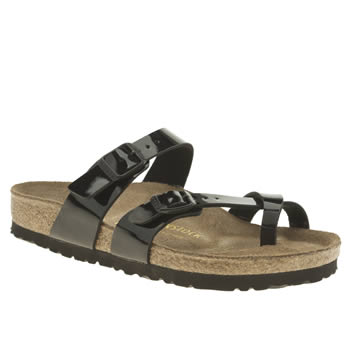 Birkenstock Black Mayari Patent Womens Sandals