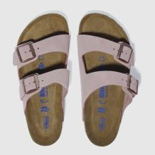 Birkenstock Pale Pink Arizona Soft Footbed Suede Womens Sandals