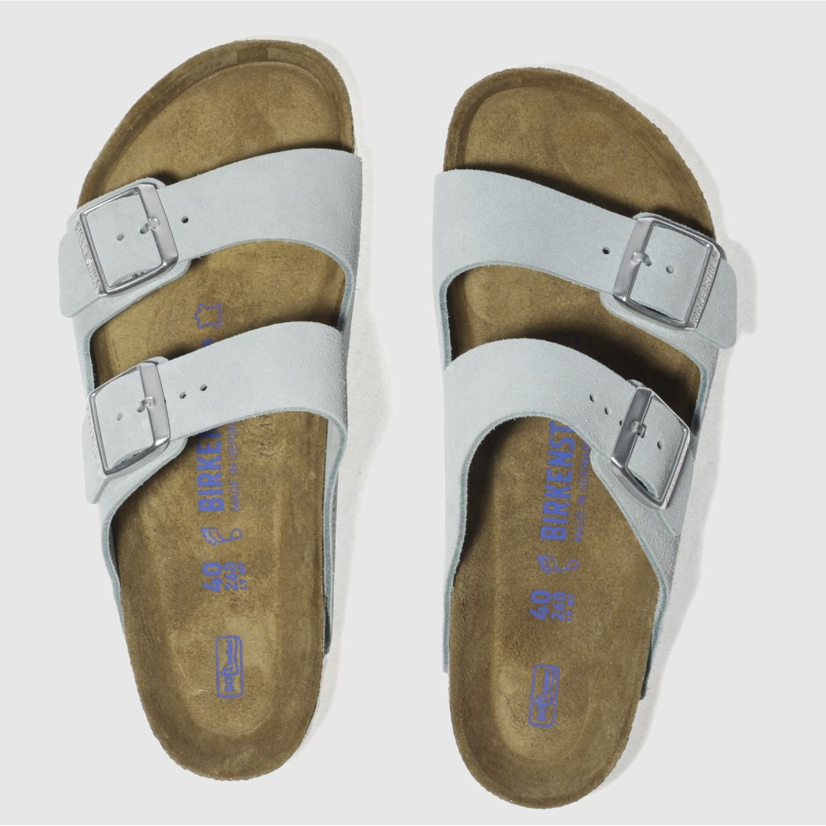 Birkenstock Pale Blue Arizona Soft Footbed Sandals