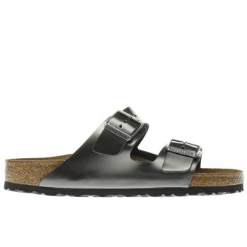 Birkenstock Silver Arizona Soft Footbed Metallic Womens Sandals