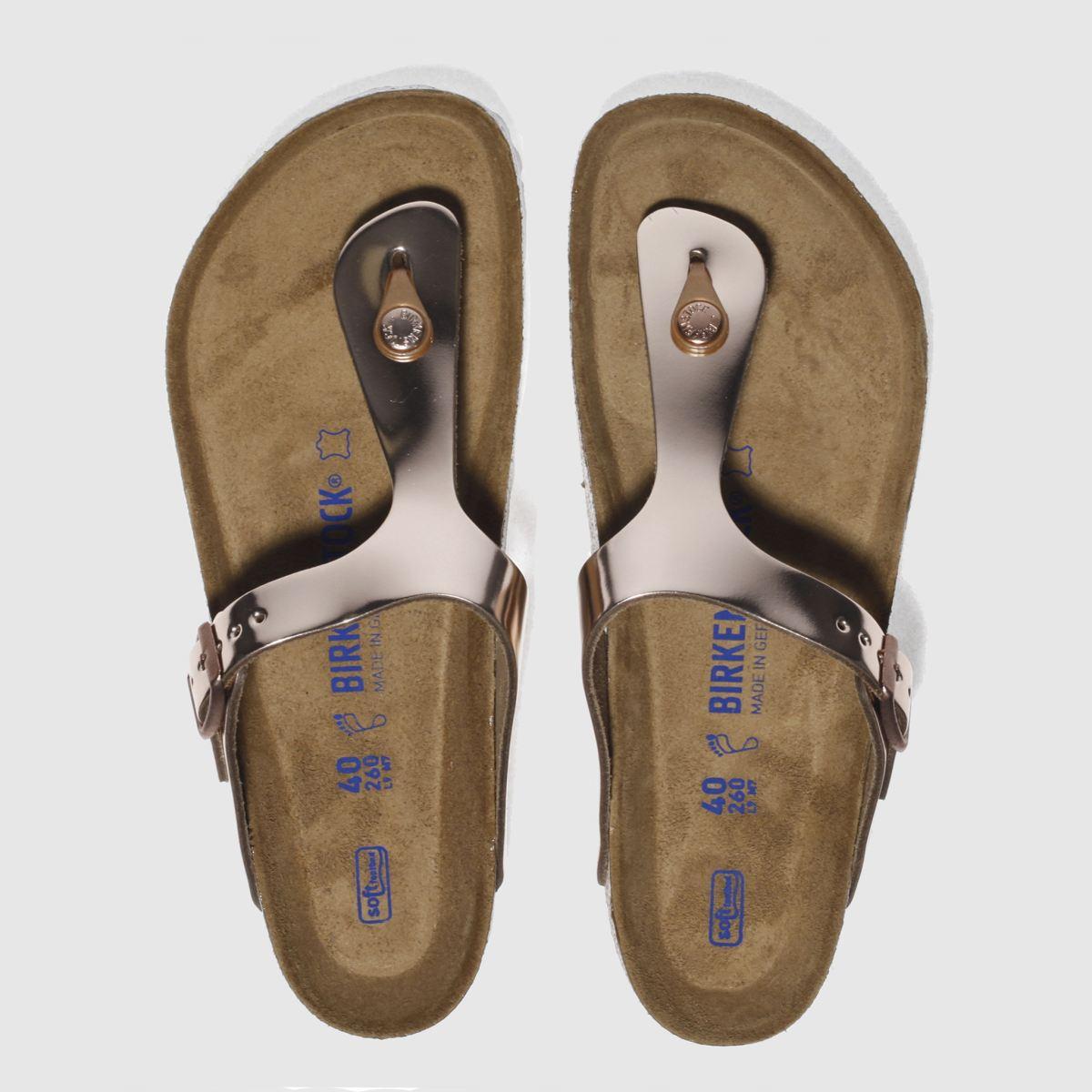 Birkenstock Bronze Gizeh Metallic Sandals