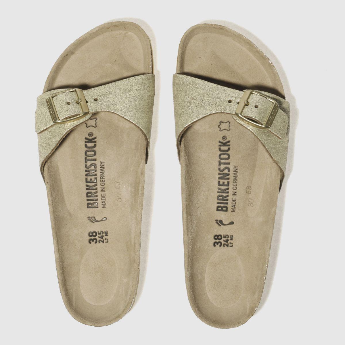Birkenstock Gold Madrid Washed Metallic Sandals