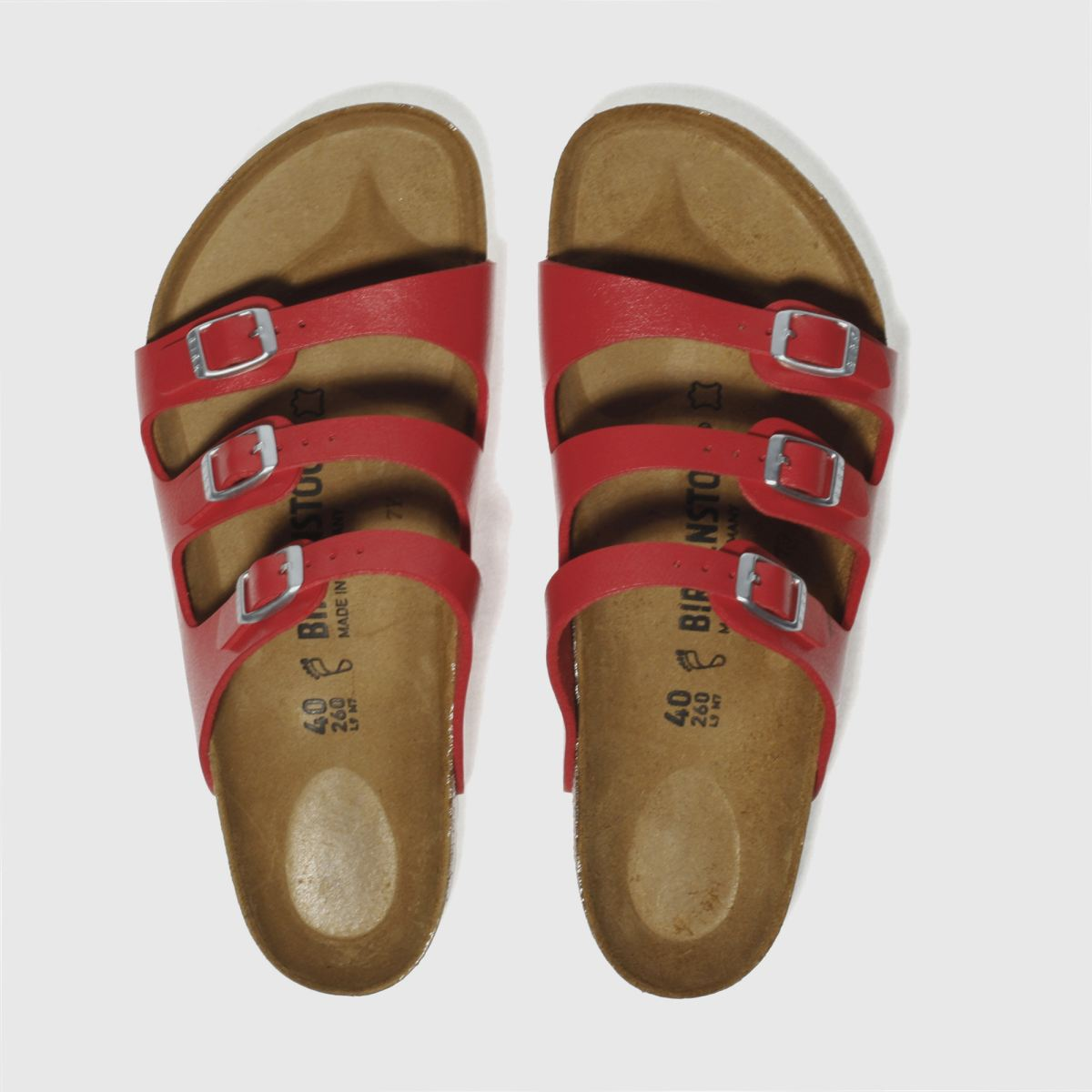 Birkenstock Red Florida Sandals