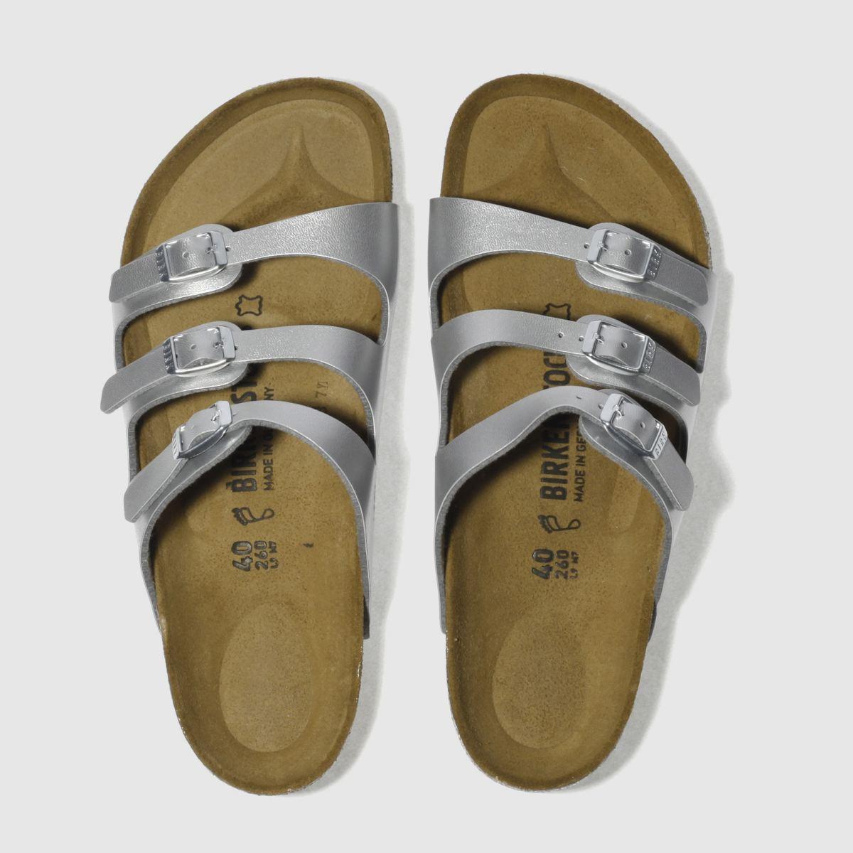 Birkenstock Silver Florida Sandals