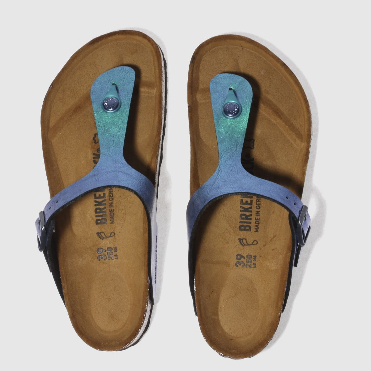 Birkenstock Blue Gizeh Graceful Gemm Sandals