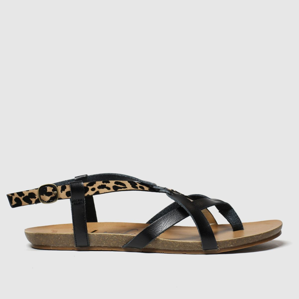 Blowfish Blowfish Black & Brown Granola B Vegan Sandals