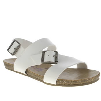 Blowfish White Gard Sandals