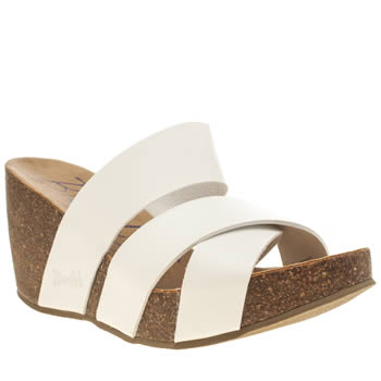 Blowfish White Hiro Sandals