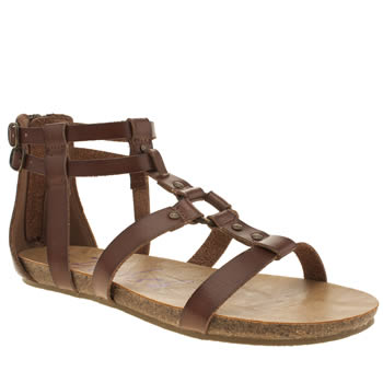 Womens Blowfish Brown Gotten Sandals