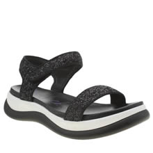 Blowfish Black & White Fling Sandals