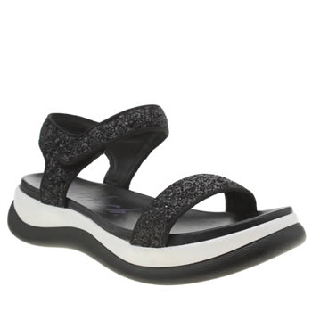 Womens Blowfish Black & White Fling Sandals