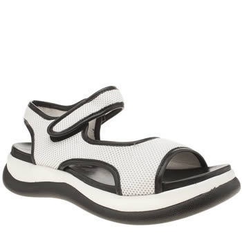 Blowfish White & Black Fenix Sandals