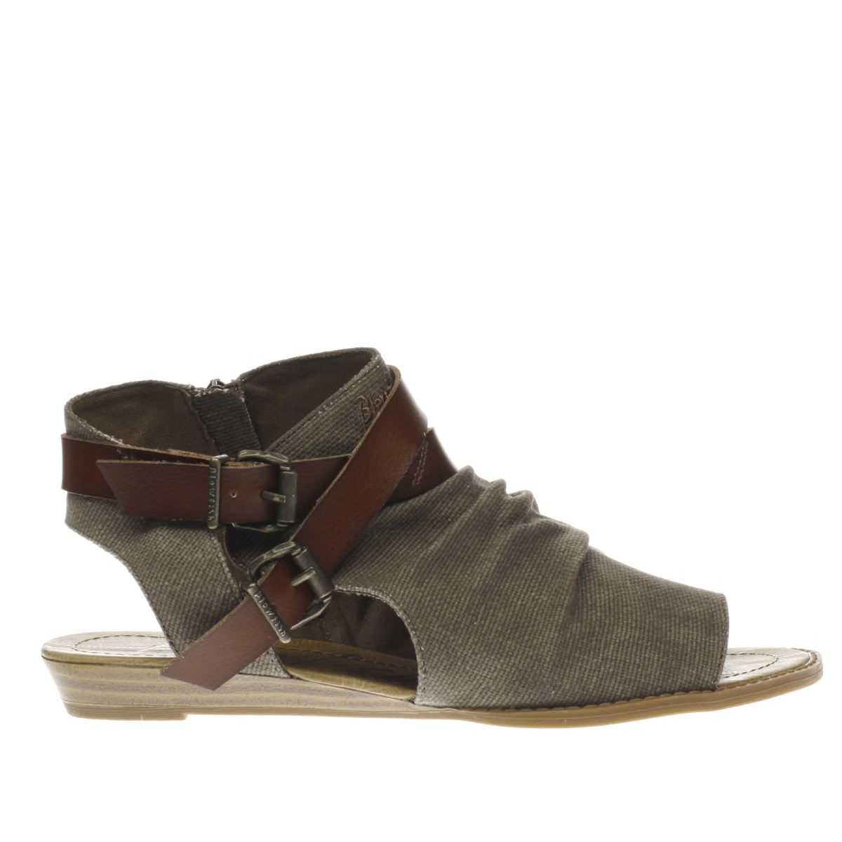 blowfish dark grey brisa sandals