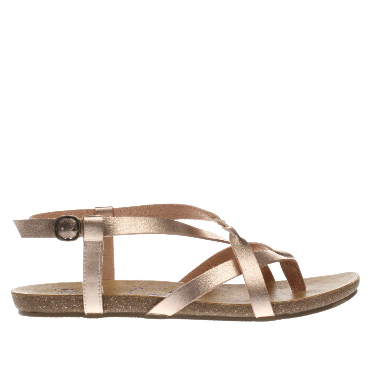blowfish rose gold granola b sandals