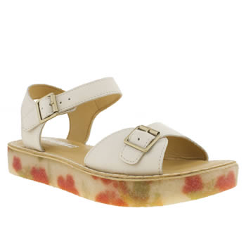 womens clarks originals white linnet flat sandals