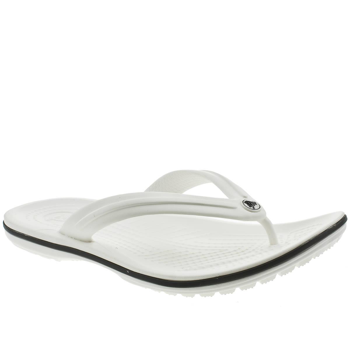 crocs white crocband flip sandals