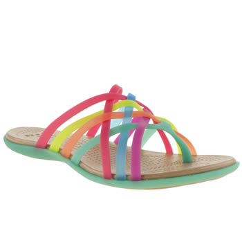 womens crocs multi huarache flip flop sandals