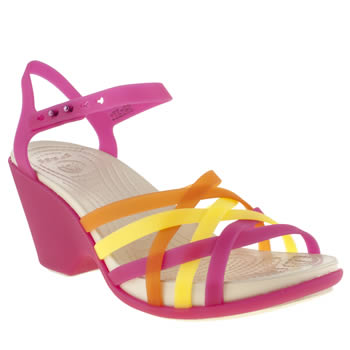 Womens Crocs Pink Huarache Sandal Wedge Sandals