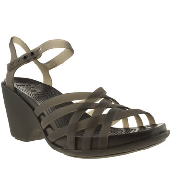 Crocs Black Huarache Sandal Wedge Sandals