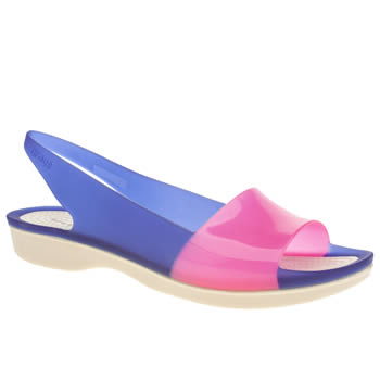 Crocs Blue Colour Block Flat Sandals