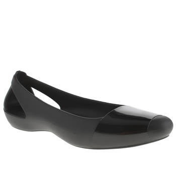 Crocs Black Sienna Shiny Womens Flats