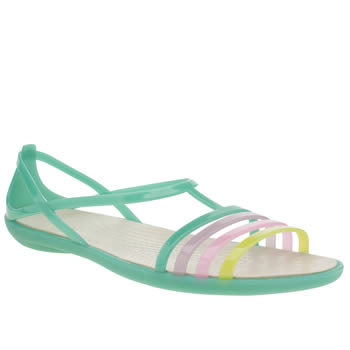 Womens Crocs Light Green Isabella Sandals