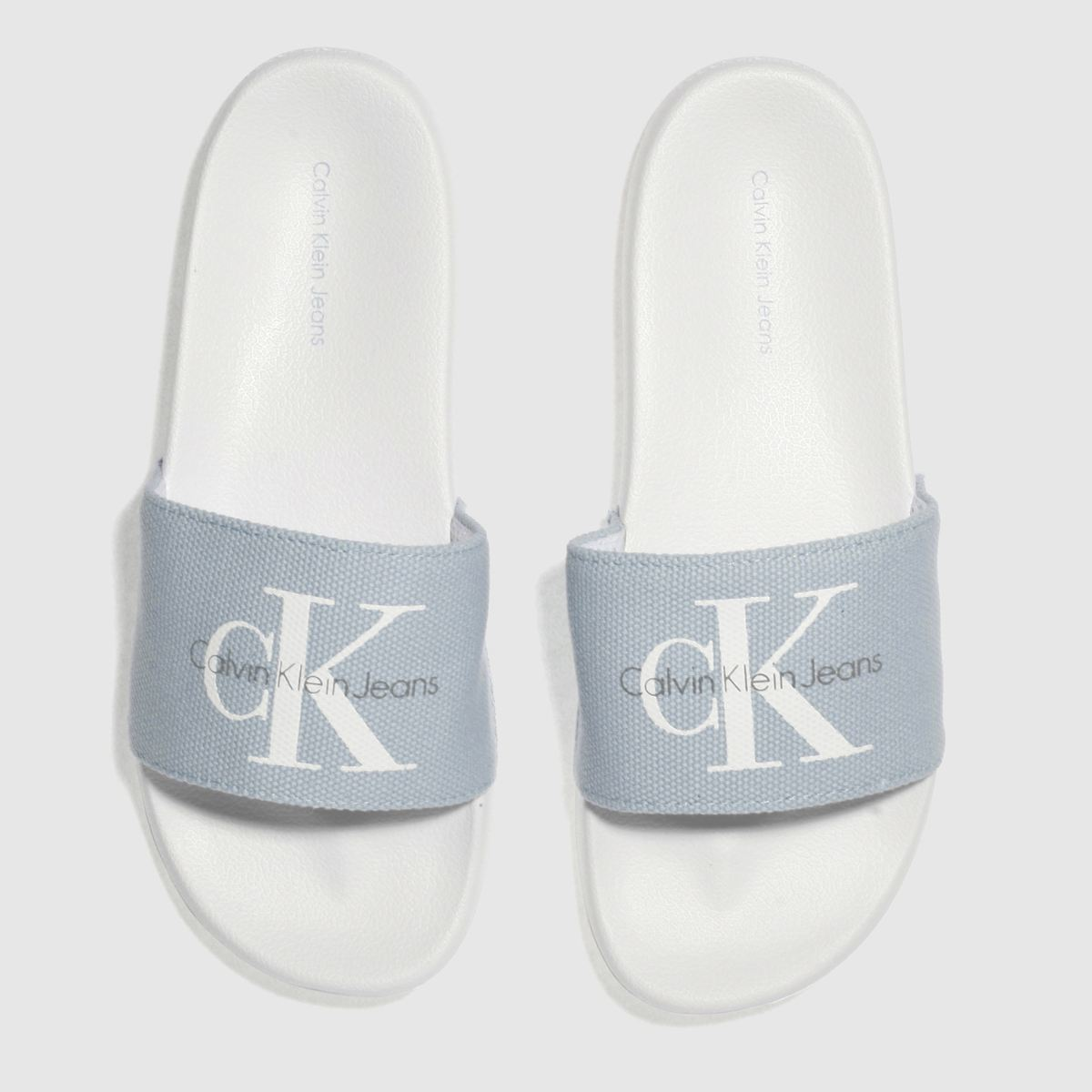 Calvin Klein Pale Blue Chantal Heavy Canvas Sandals