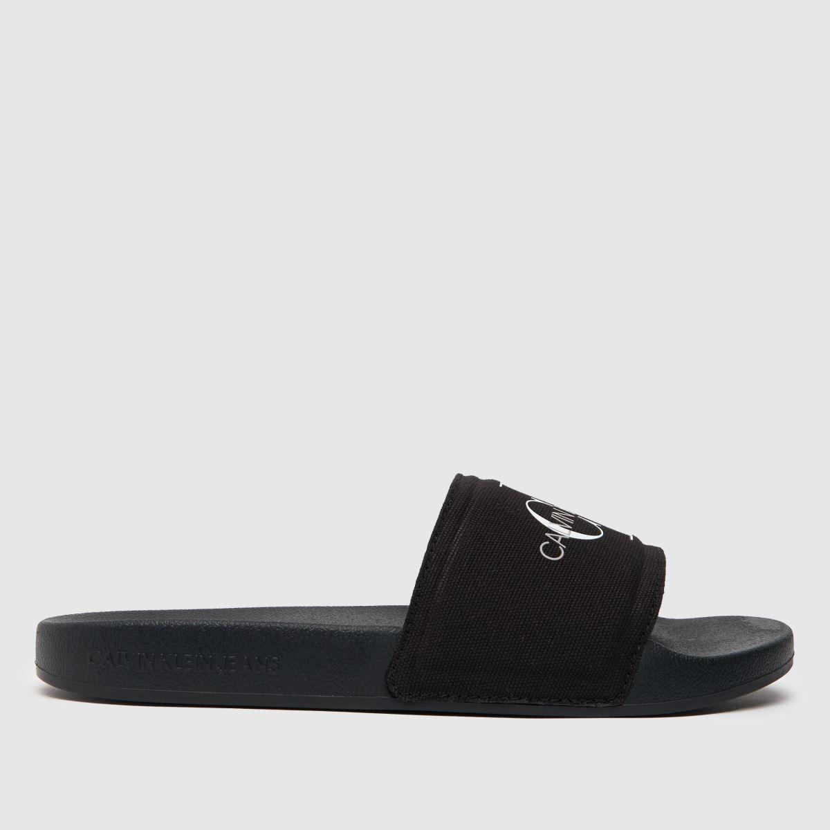 Calvin Klein Black & White Jeans Chantal Heavy Canvas Sandals