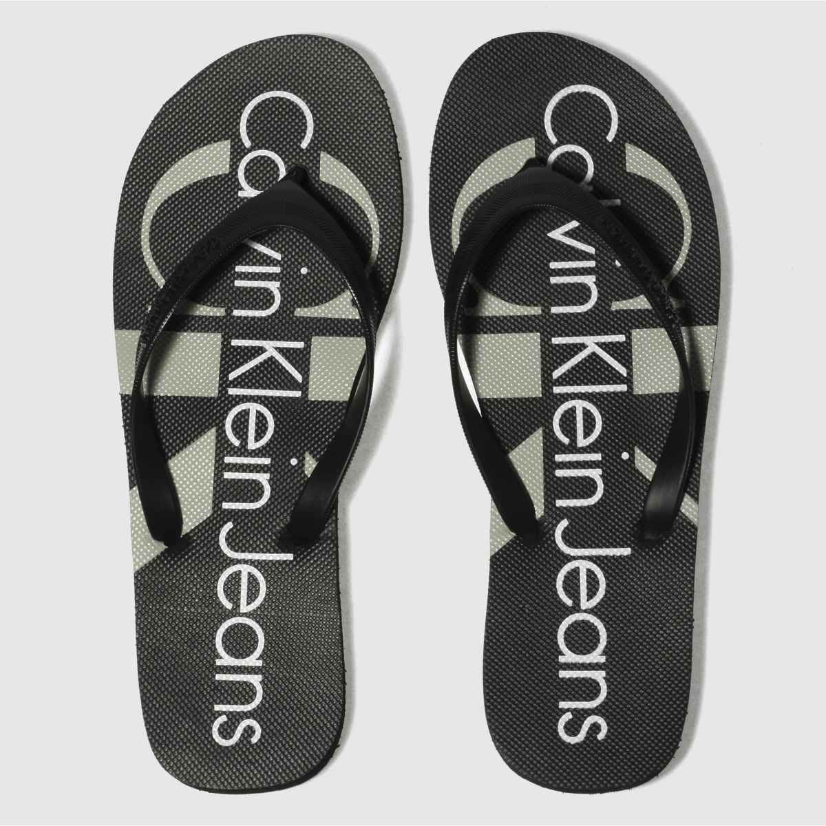 Calvin Klein Black & White Jeans Paulina Jelly Sandals
