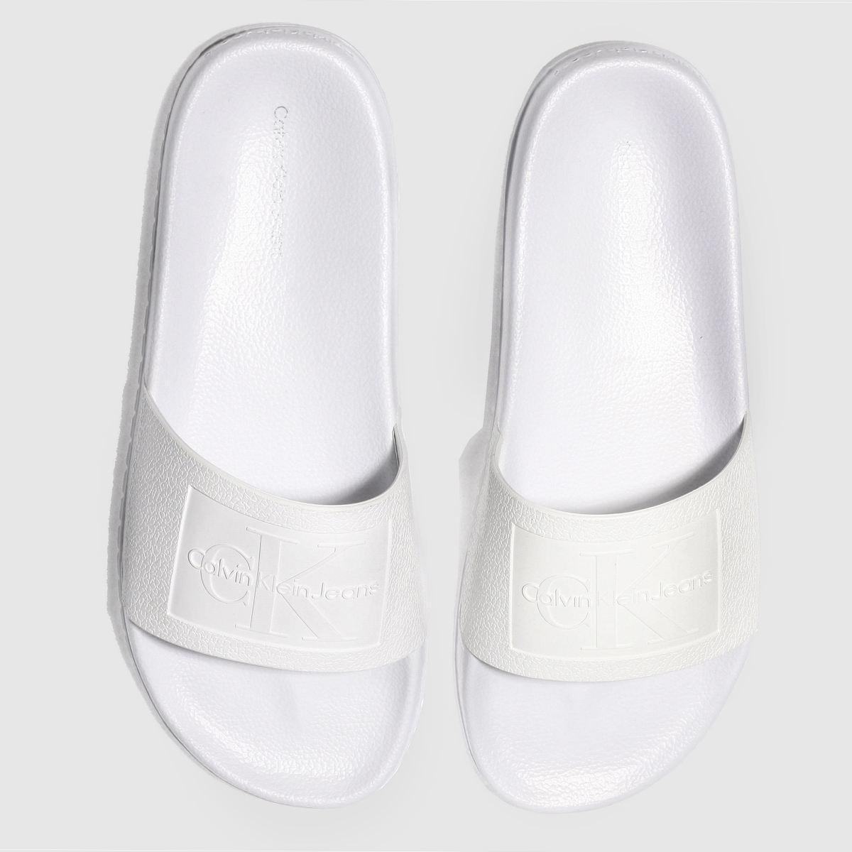 Calvin Klein White Jeans Christie Jelly Sandals