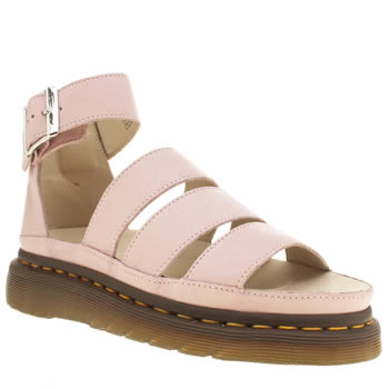 Dr Martens Pale Pink Shore Clarissa Chunky Strap Sandals