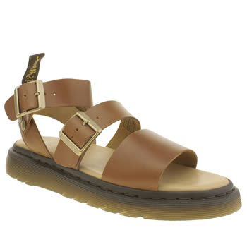 Dr Martens Tan Shore Gryphon Strap Sandals