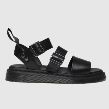 Dr Martens Black Shore Gryphon Strap Sandals