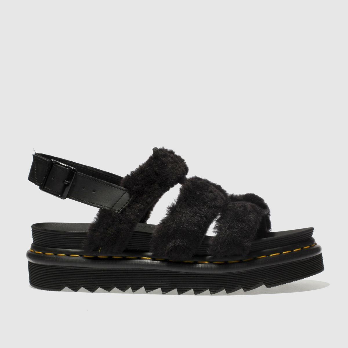 Dr Martens Black Dm Zebrilus Yelena Fluffy Sandals