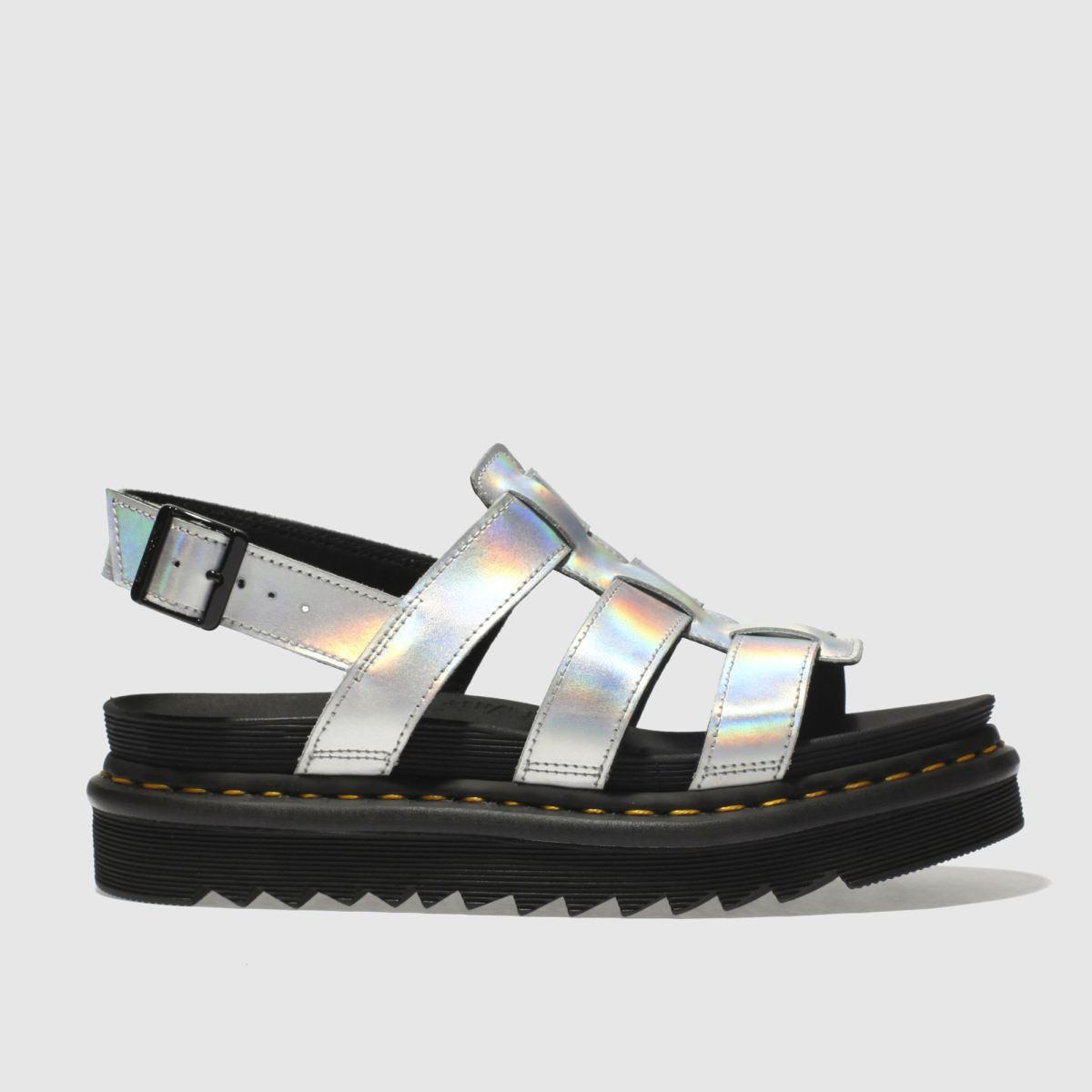 Dr Martens Silver Zebrilus Yelena Iced Metallic Sandals