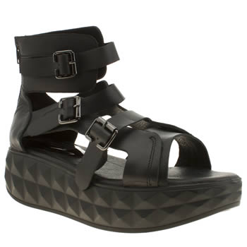 Ego & Greed Black Madd Ii Sandals