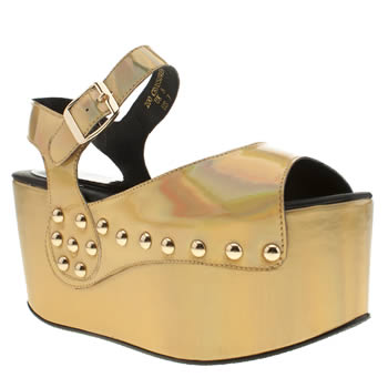 Womens Ego & Greed Gold 200 Crossover Sandals