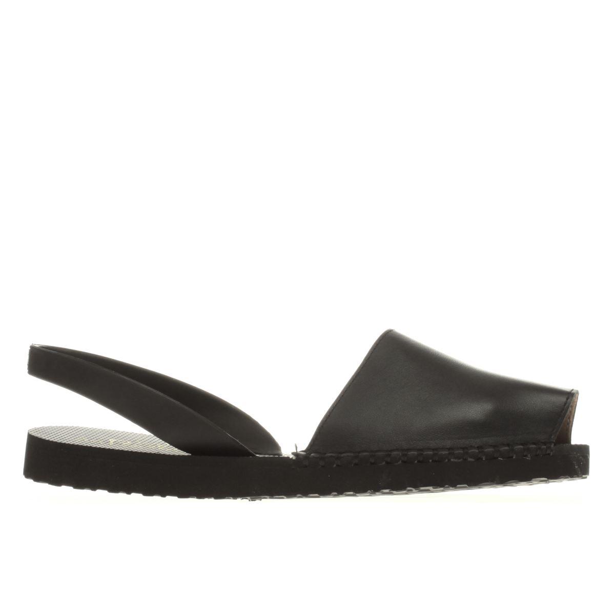espadilla black balearic sandals