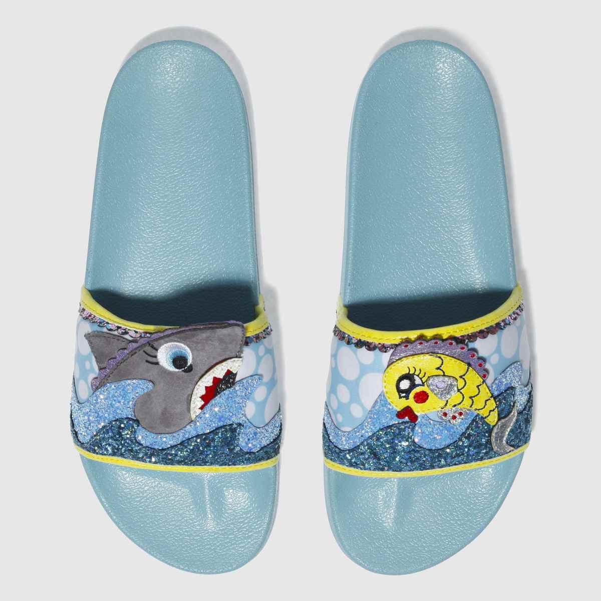 Irregular Choice Blue & Yellow Bubble & Galaxy Slide Sandals