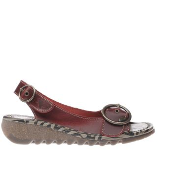 Fly London Red Tram Womens Sandals