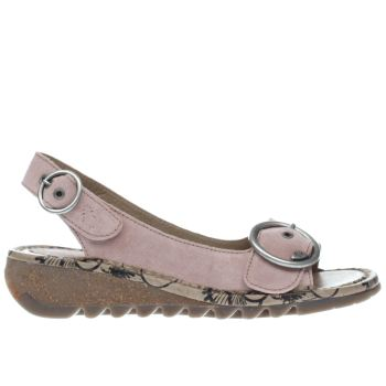 Fly London Pink Tram Sandals