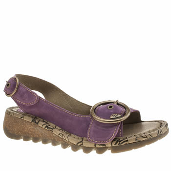 Womens Fly London Purple Tram Sandals
