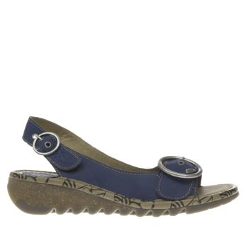Fly London Blue Tram Sandals