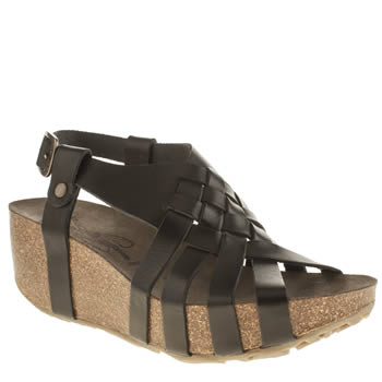 Womens Fly London Black Cary Sandals