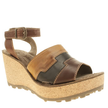 Fly London Tan Gody Sandals