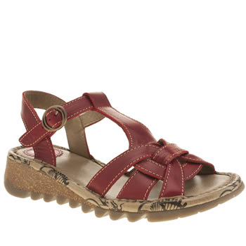 Womens Fly London Red Tews Sandals